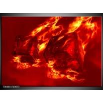 Foto canvas schilderij Design | Rood, Geel, Oranje