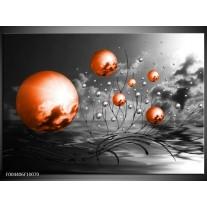 Glas schilderij Design | Oranje, Grijs, Zwart