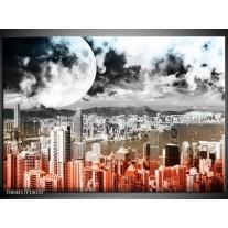 Glas schilderij Modern | Rood, Grijs, Zwart