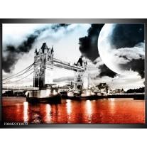 Glas schilderij Modern   Rood, Grijs, Zwart