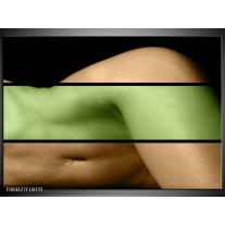 Glas schilderij Lichaam | Groen, Bruin, Zwart