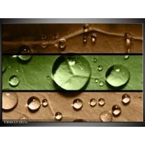 Foto canvas schilderij Modern | Groen, Bruin