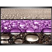 Glas schilderij Druppels | Paars, Grijs