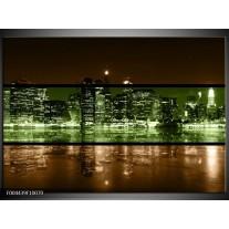 Glas schilderij Steden | Groen, Bruin