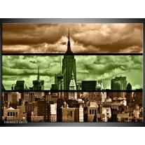 Foto canvas schilderij Modern | Bruin, Groen