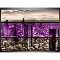 Glas schilderij Modern | Paars, Grijs, Zwart