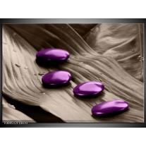 Glas schilderij Spa | Paars, Grijs