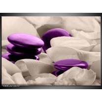Foto canvas schilderij Spa | Paars, Grijs