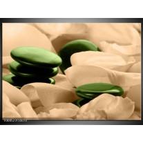 Glas schilderij Spa | Groen, Bruin