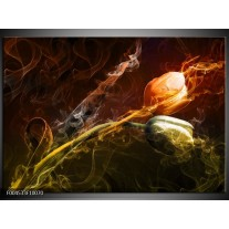 Glas schilderij Tulp | Oranje, Groen, Geel