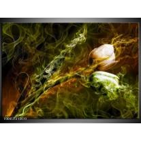 Foto canvas schilderij Tulp | Groen, Geel