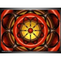 Foto canvas schilderij Modern | Rood, Geel, Zwart