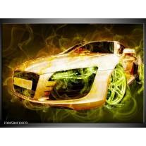Glas schilderij Audi | Bruin, Groen