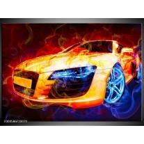 Foto canvas schilderij Audi | Rood, Blauw, Rood