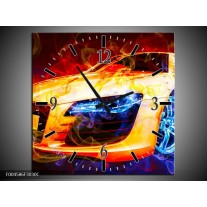 Wandklok op Canvas Audi | Kleur: Rood, Blauw, Rood | F004586C