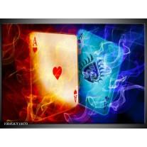 Glas schilderij Spel | Rood, Blauw, Rood