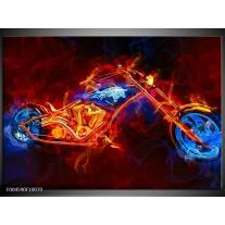 Foto canvas schilderij Motor   Rood, Blauw, Rood