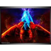 Glas schilderij Kunst | Rood, Blauw, Rood