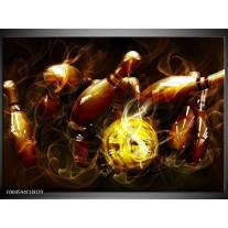 Glas schilderij Spel   Bruin, Geel, Zwart