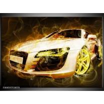 Glas schilderij Audi   Geel, Wit, Groen