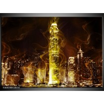 Glas schilderij Modern | Geel, Wit, Groen
