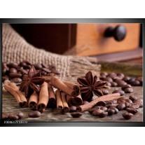 Foto canvas schilderij Koffie | Wit, Bruin