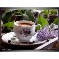 Glas schilderij Koffie   Wit, Bruin