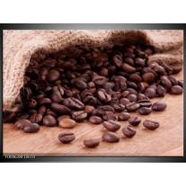 Glas schilderij Koffie | Wit, Bruin