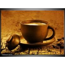 Foto canvas schilderij Koffie | Bruin, Geel