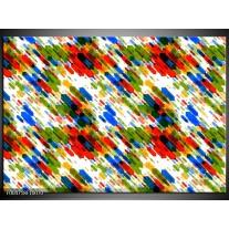 Foto canvas schilderij Modern | Groen, Blauw, Rood