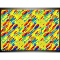 Foto canvas schilderij Modern | Geel, Rood, Blauw