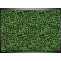 Foto canvas schilderij Modern | Groen, Zwart
