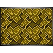 Glas schilderij Modern   Geel, Zwart