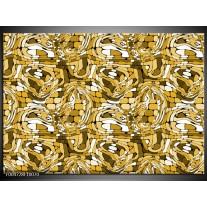 Foto canvas schilderij Modern | Geel, Wit, Groen