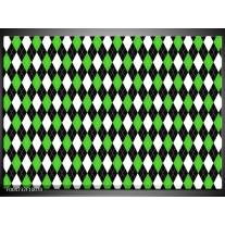 Glas schilderij Modern   Groen, Wit, Zwart
