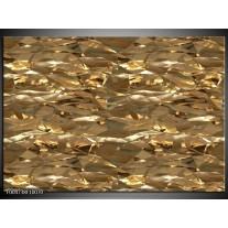 Glas schilderij Modern | Bruin, Wit
