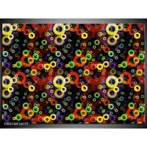 Foto canvas schilderij Modern | Geel, Groen, Rood