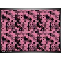 Foto canvas schilderij Modern | Roze, Paars, Zwart