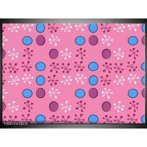 Foto canvas schilderij Modern | Paars, Blauw, Roze