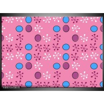 Glas schilderij Modern | Paars, Blauw, Roze
