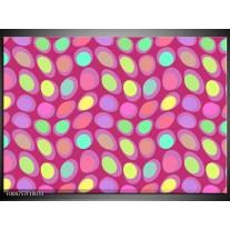 Foto canvas schilderij Modern | Roze, Geel, Groen
