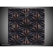 Wandklok op Canvas Modern   Kleur: Bruin, Zwart   F004758C