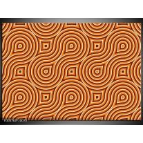 Foto canvas schilderij Modern | Oranje, Geel, Zwart