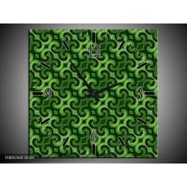 Wandklok op Canvas Modern | Kleur: Groen | F004764C