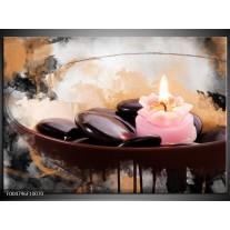 Foto canvas schilderij Spa | Roze, Bruin, Geel