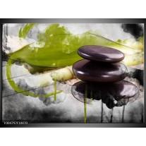 Foto canvas schilderij Spa | Groen, Zwart, Grijs