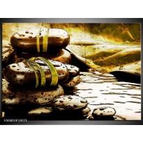 Foto canvas schilderij Spa | Geel, Bruin, Wit