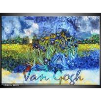Foto canvas schilderij Klassiek | Blauw, Geel, Zwart