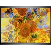 Foto canvas schilderij Klassiek | Geel, Blauw, Bruin
