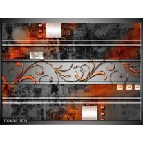 Foto canvas schilderij Modern | Oranje, Bruin, Grijs